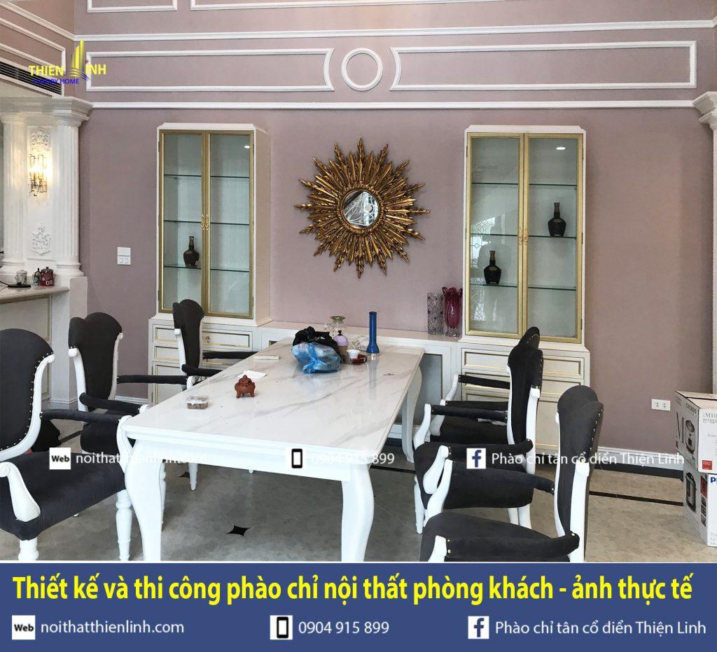 Thiết kế và thi công phào chỉ nội thất phòng khách - ảnh thực tế (13)
