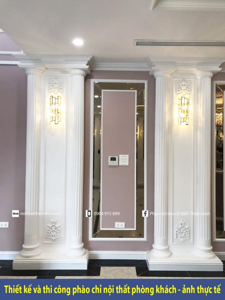 Thiết kế và thi công phào chỉ nội thất phòng khách - ảnh thực tế (15)