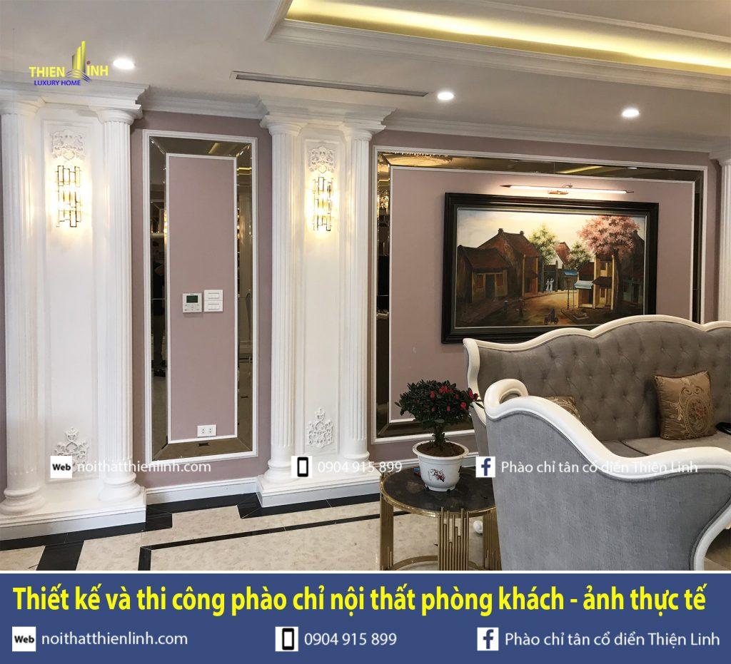 Thiết kế và thi công phào chỉ nội thất phòng khách - ảnh thực tế (7)