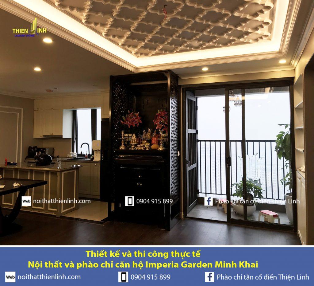 Thiết kế và thi công thực tế -Nội thất và phào chỉ căn hộ Imperia Garden Minh Khai (8)