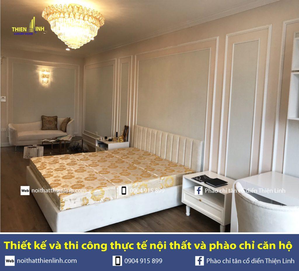 Thiết kế và thi công thực tế nội thất và phào chỉ phòng ngủ (2)