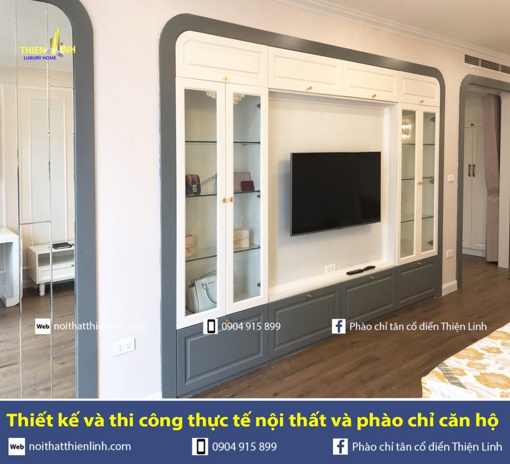Thiết kế và thi công thực tế nội thất và phào chỉ phòng ngủ (3)