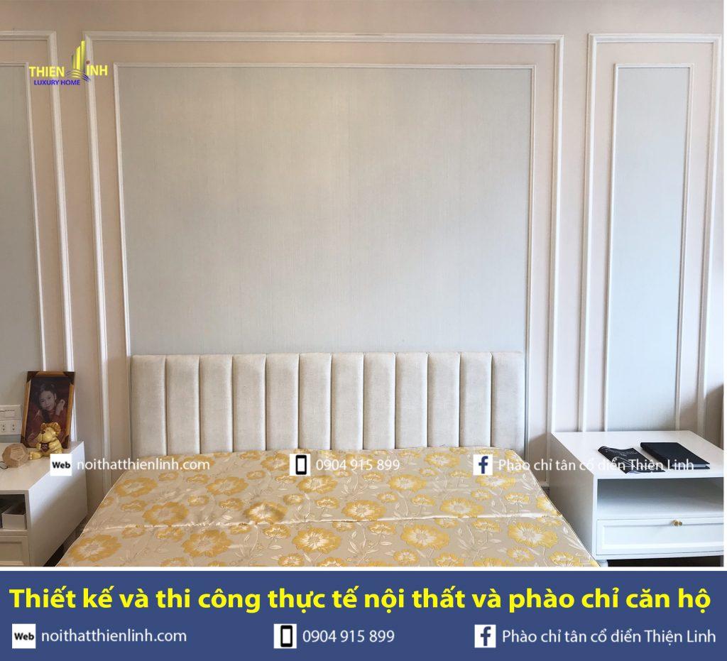Thiết kế và thi công thực tế nội thất và phào chỉ phòng ngủ (6)