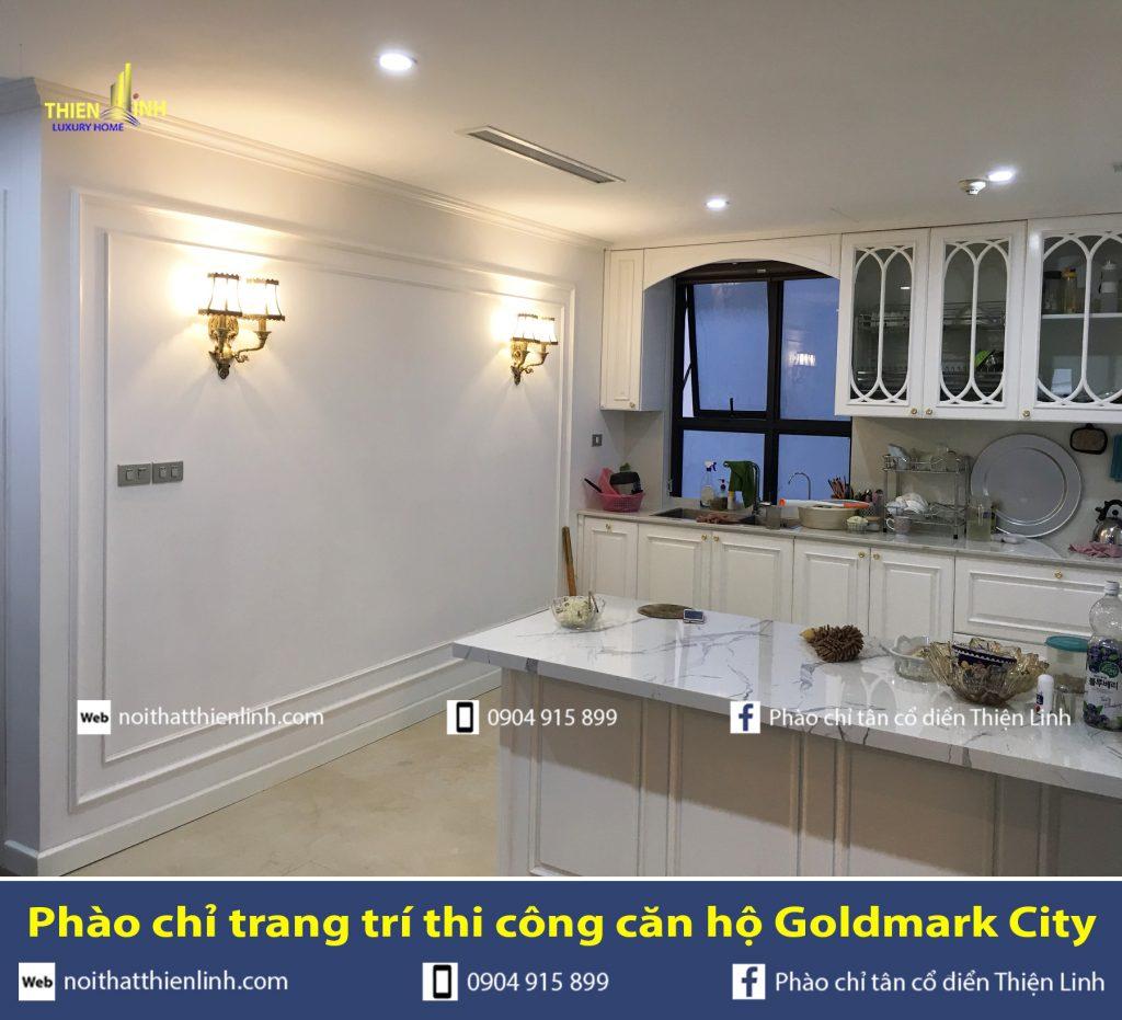Phào chỉ trang trí thi công căn hộ Goldmark City (10)