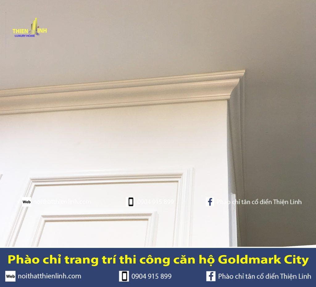 Phào chỉ trang trí thi công căn hộ Goldmark City (12)