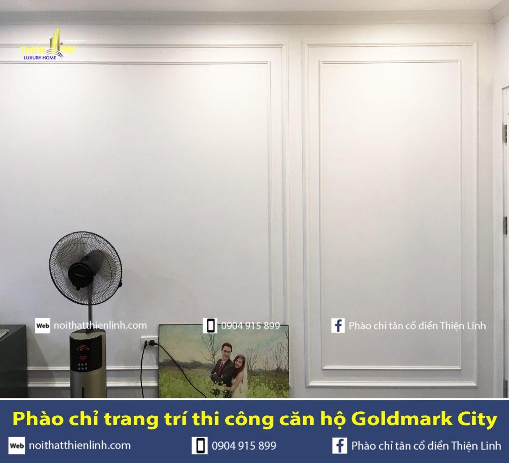 Phào chỉ trang trí thi công căn hộ Goldmark City (13)