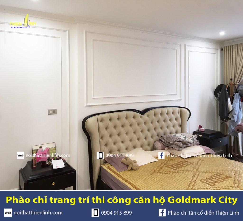 Phào chỉ trang trí thi công căn hộ Goldmark City (14)