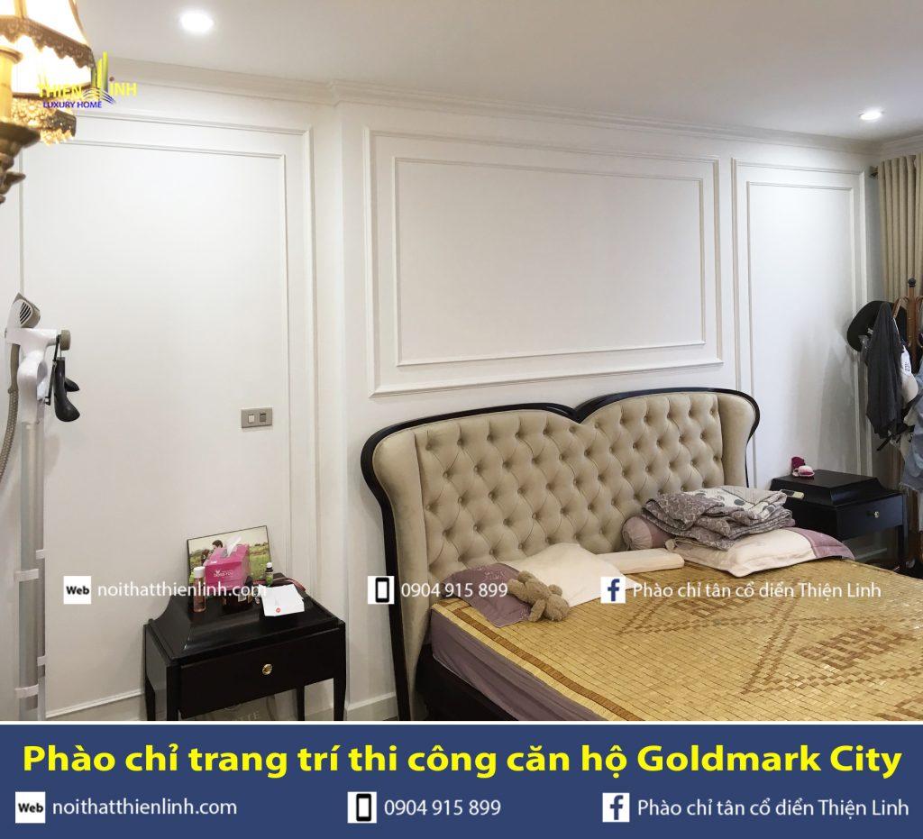 Phào chỉ trang trí thi công căn hộ Goldmark City (15)
