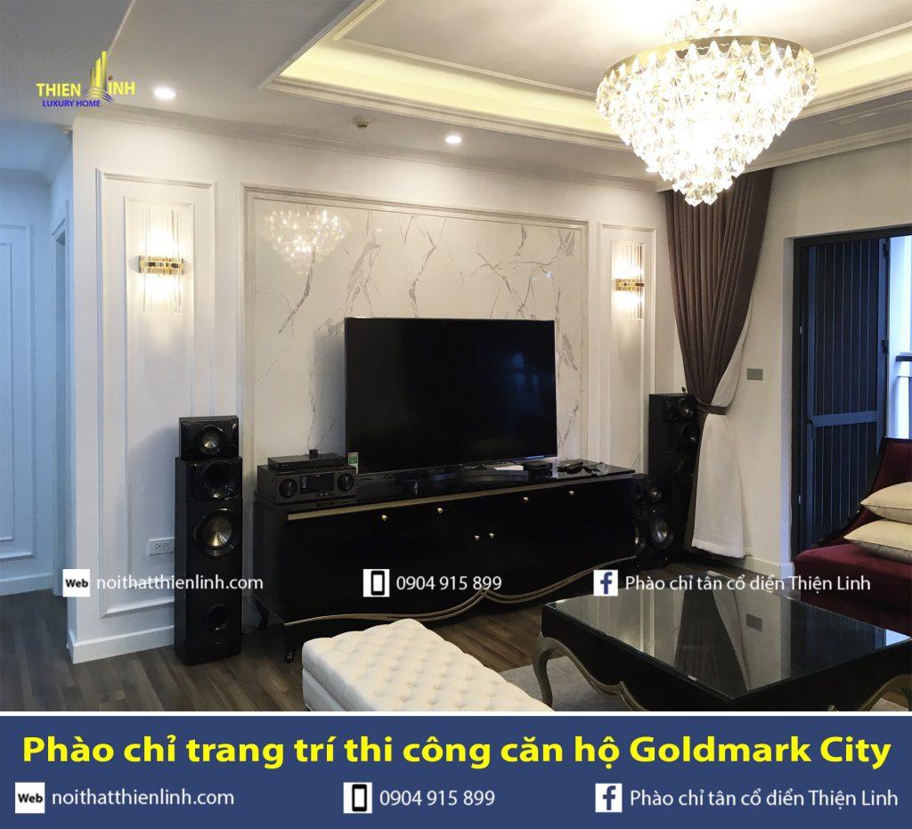 Phào chỉ trang trí thi công căn hộ Goldmark City (3)