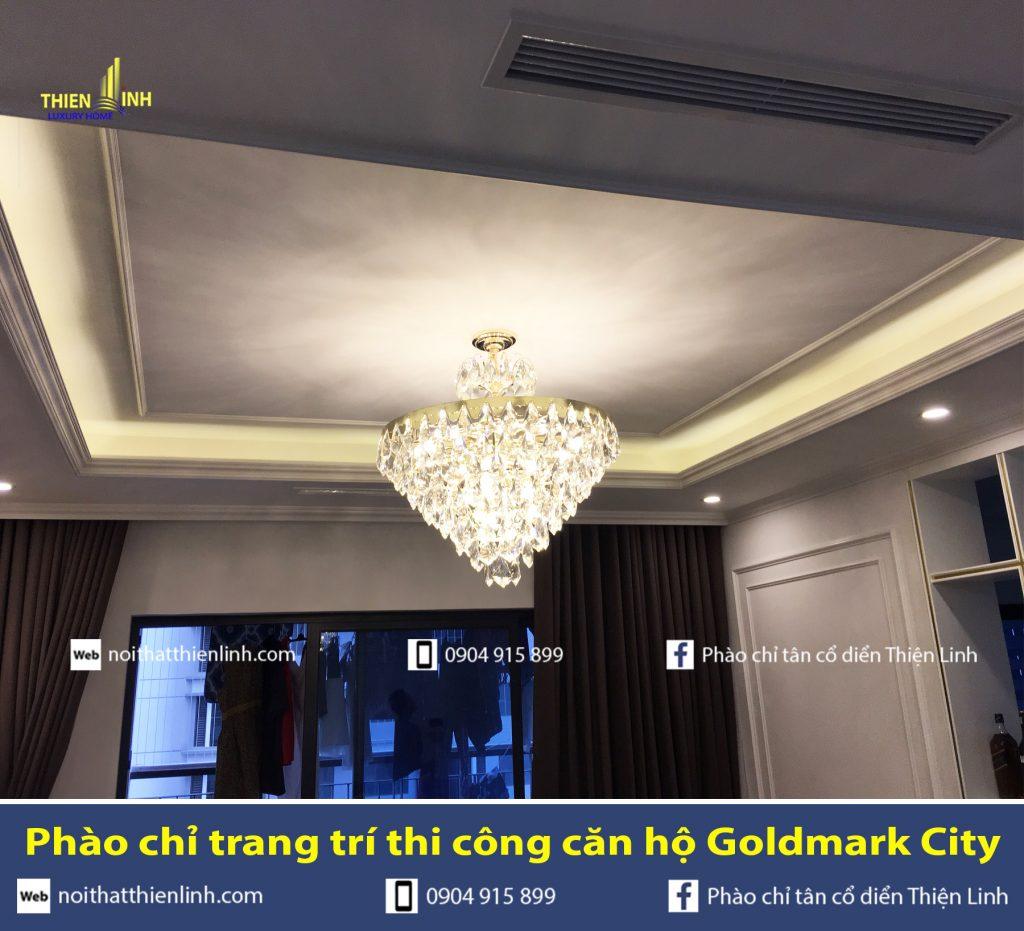 Phào chỉ trang trí thi công căn hộ Goldmark City (4)