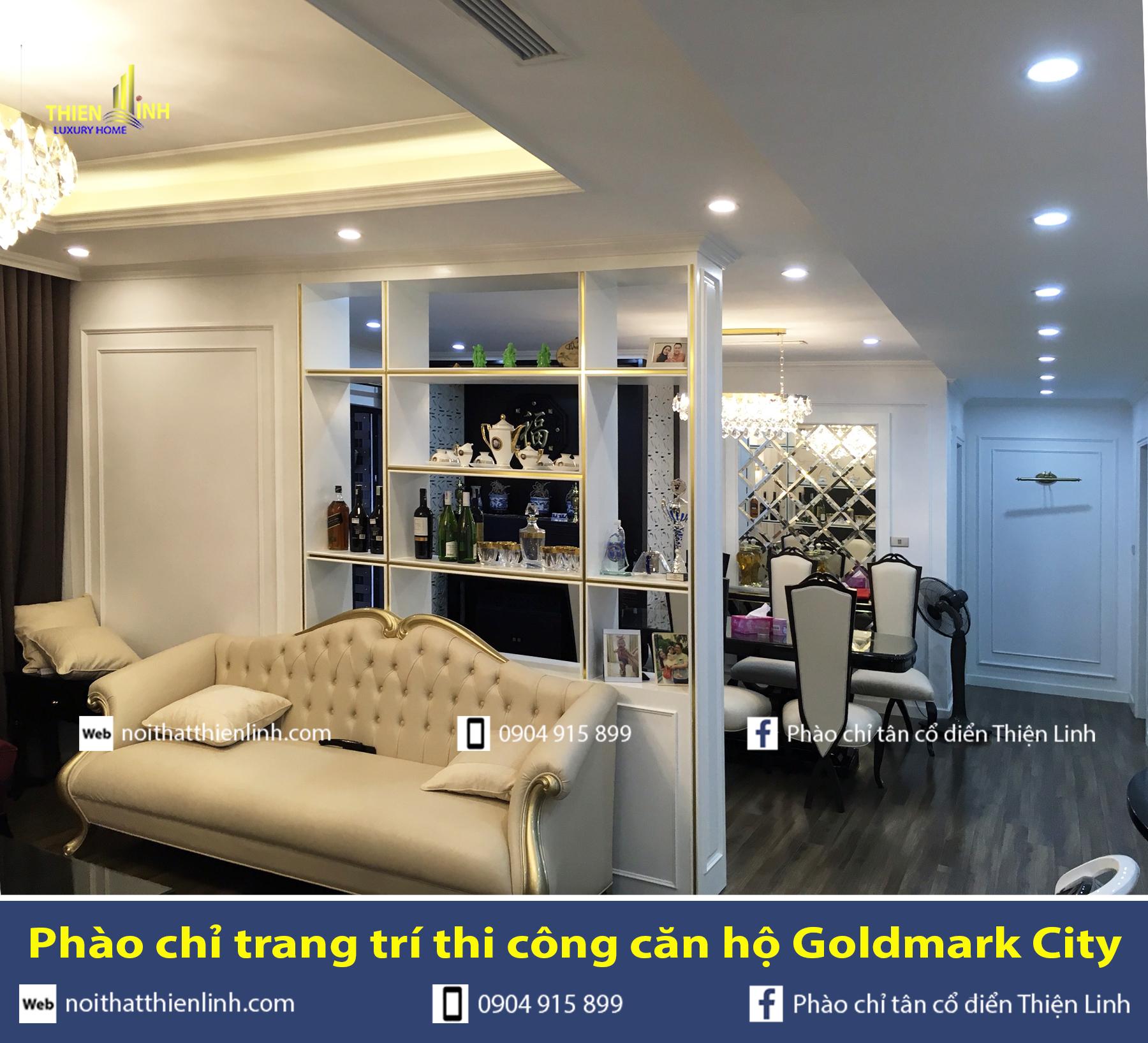 Phào chỉ trang trí thi công căn hộ Goldmark City (5)