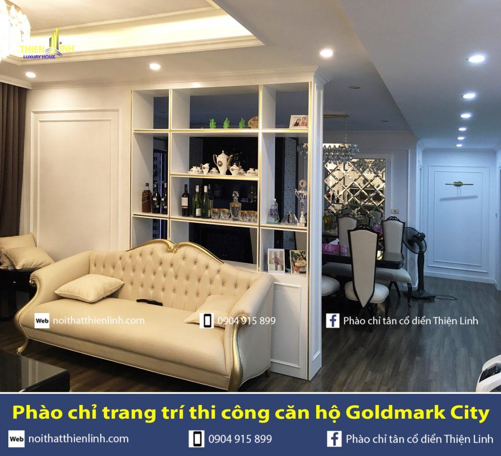 Phào chỉ trang trí thi công căn hộ Goldmark City (6)