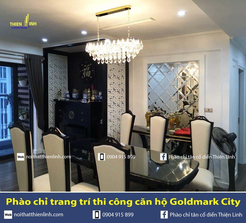 Phào chỉ trang trí thi công căn hộ Goldmark City (7)