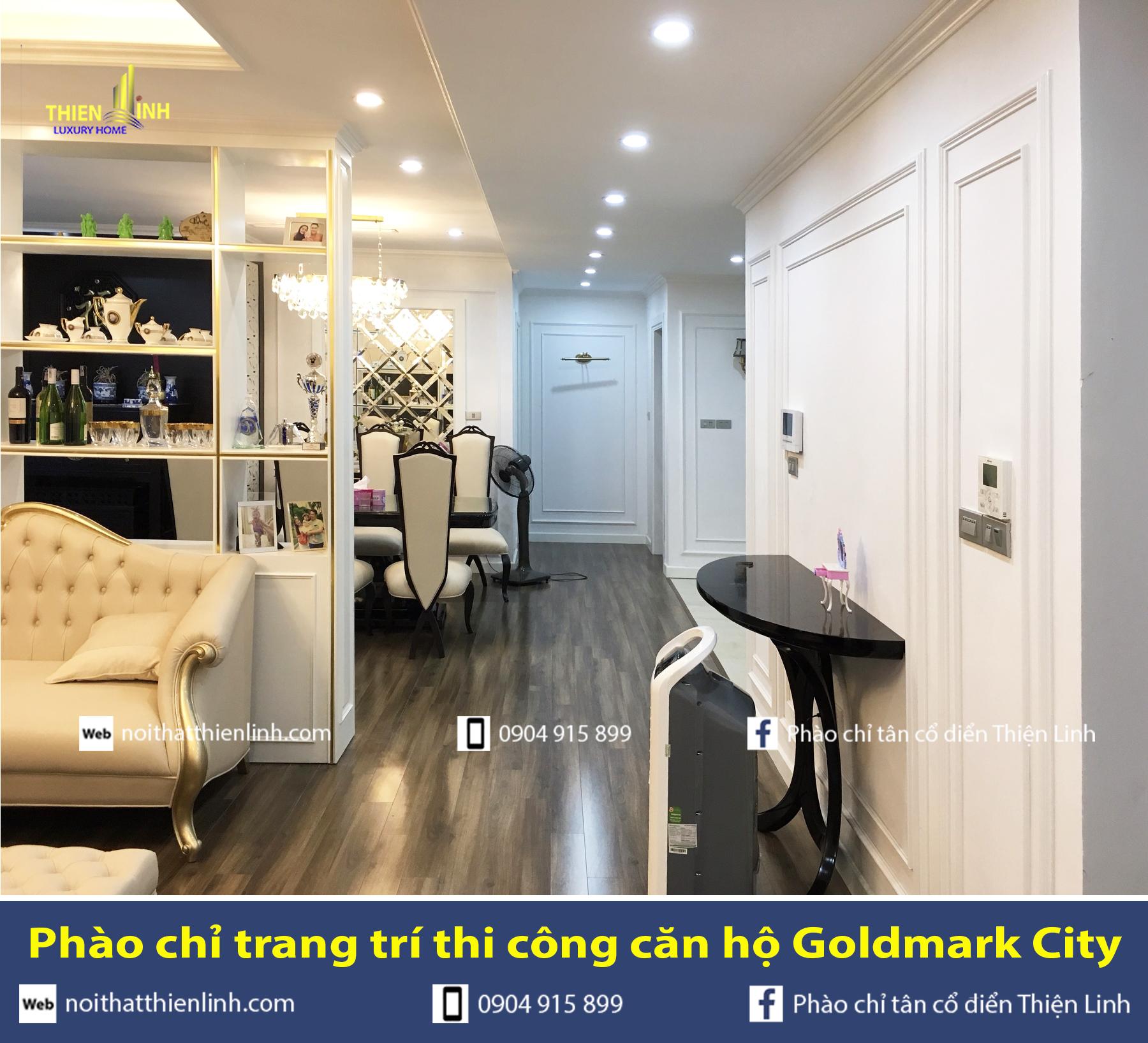 Phào chỉ trang trí thi công căn hộ Goldmark City (8)