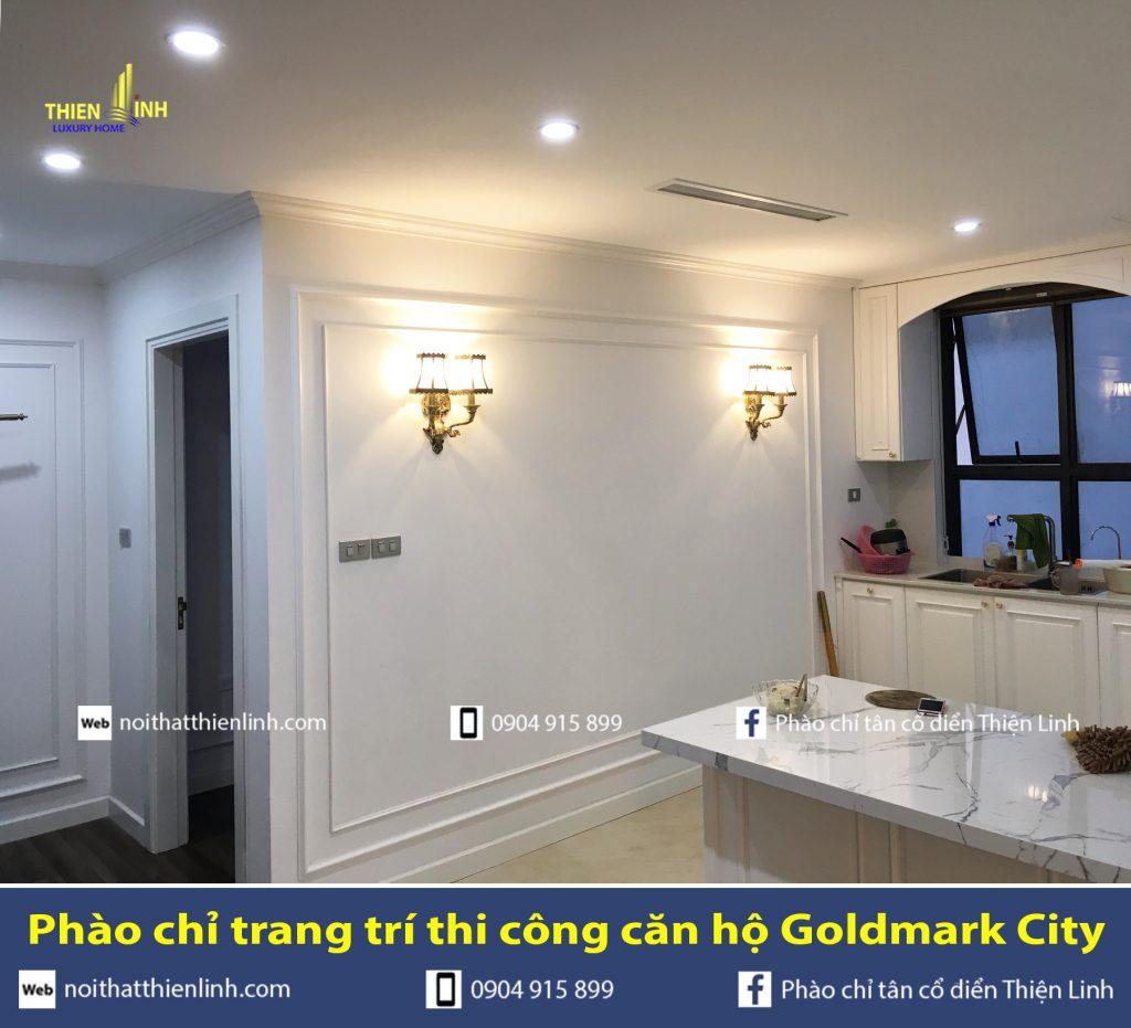 Phào chỉ trang trí thi công căn hộ Goldmark City (9)