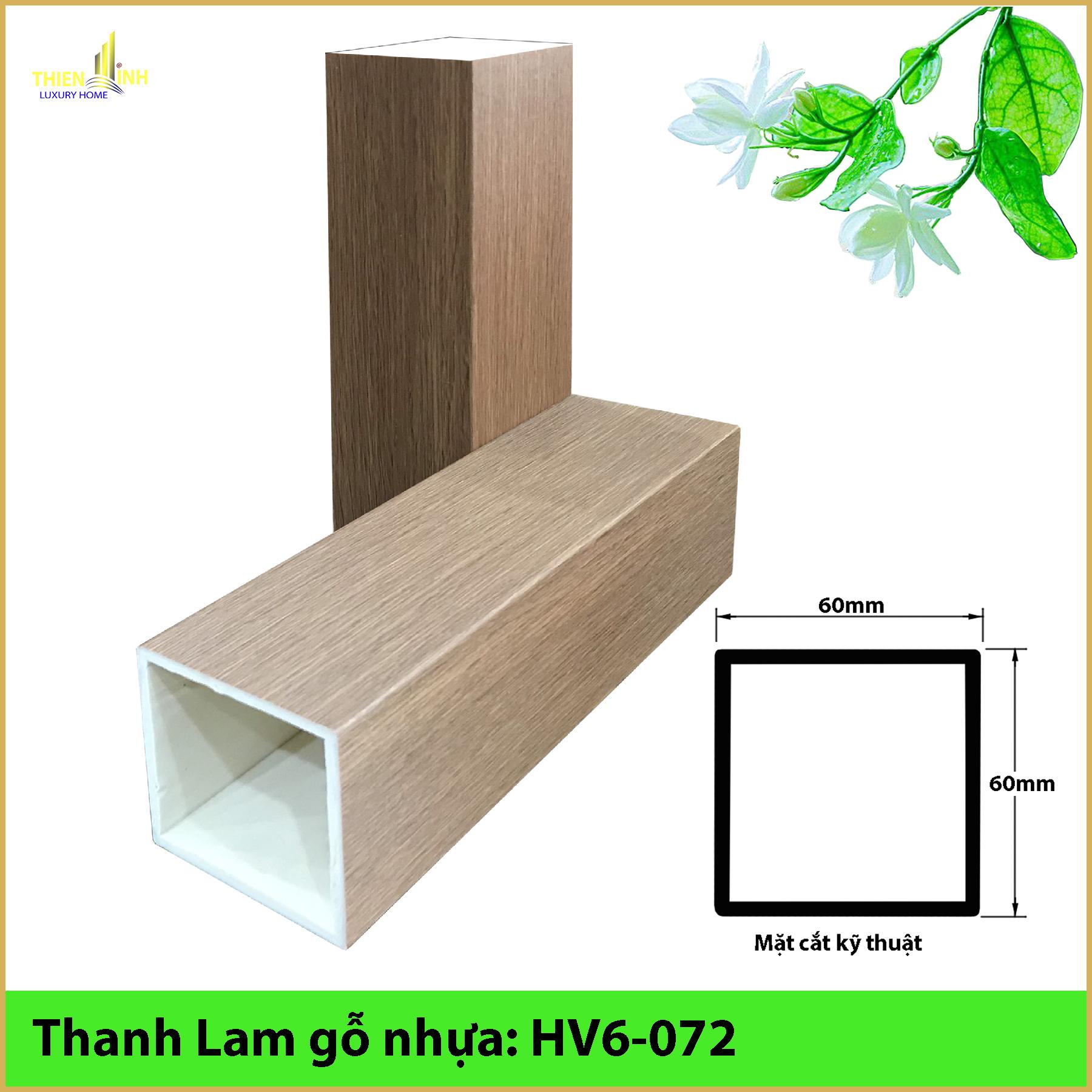 Thanh Lam gỗ nhựa HV6-072