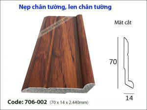 Nep chan tuong, len chan tuong 706-002