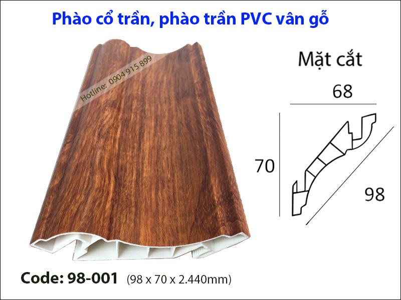 Phào cổ trần, phào trần PVC 98-001
