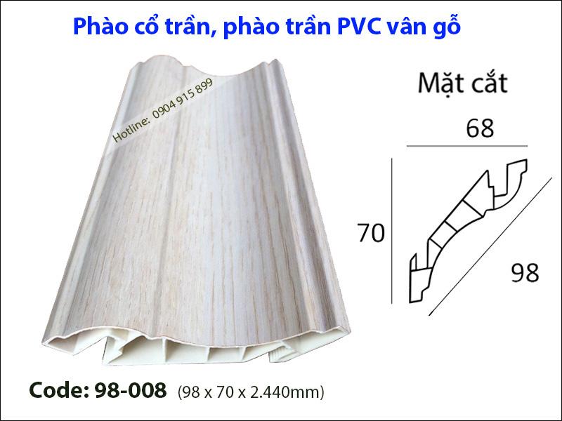 Phào cổ trần, phào trần PVC 98-008