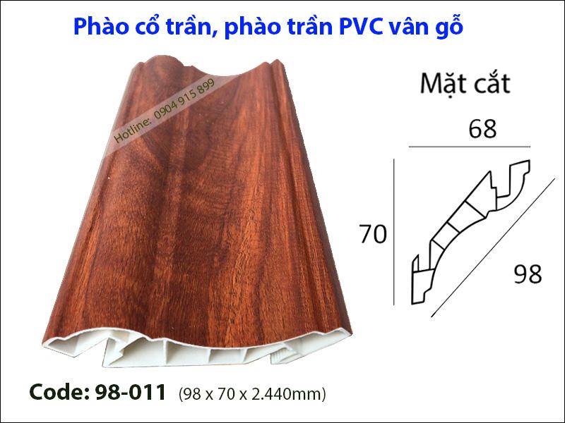 Phào cổ trần, phào trần PVC 98-011