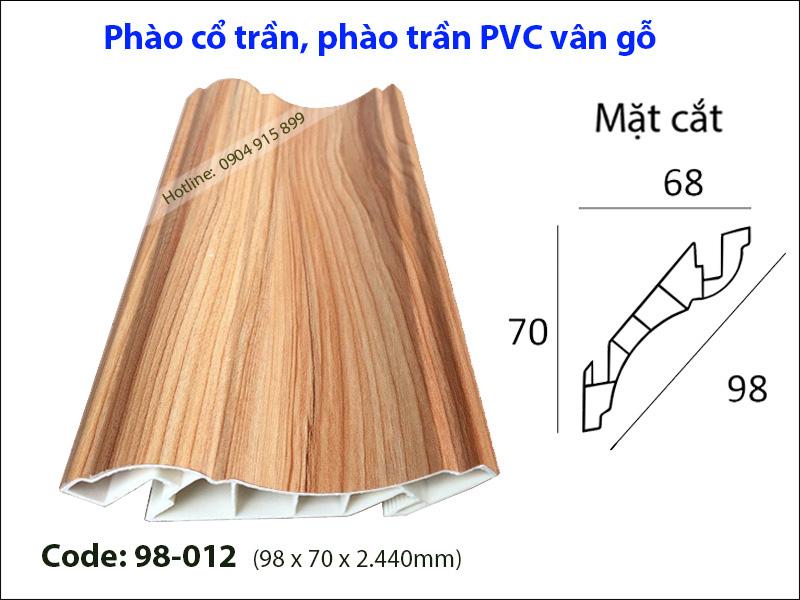 Phào cổ trần, phào trần PVC 98-012