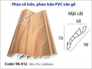 Phào cổ trần, phào trần PVC 98-012,