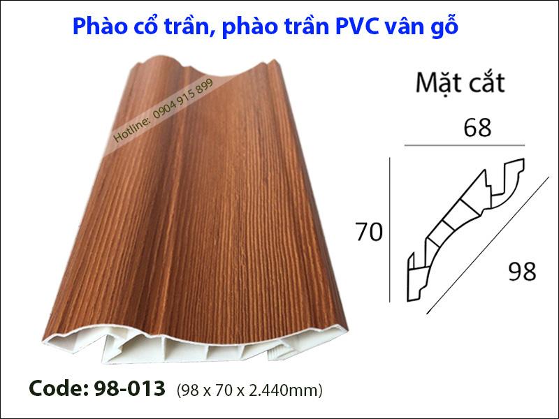 Phào cổ trần, phào trần PVC 98-013