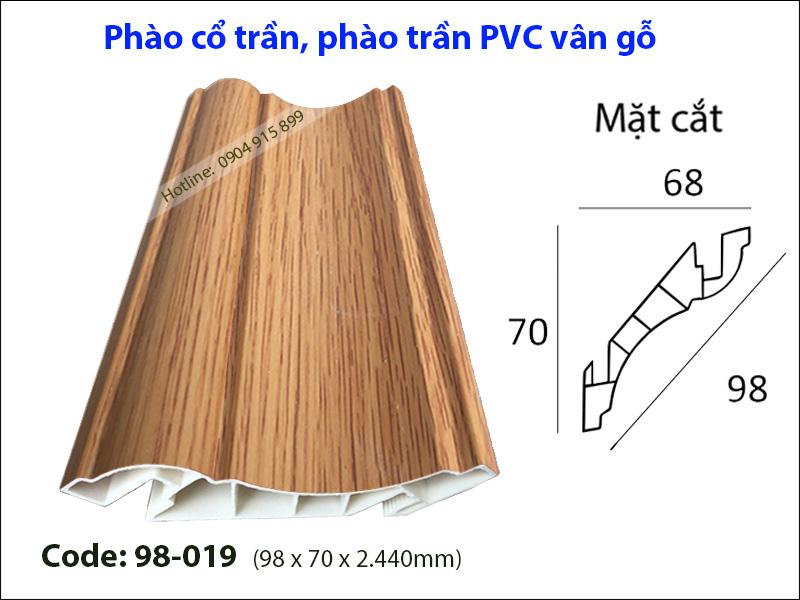 Phào cổ trần, phào trần PVC 98-019