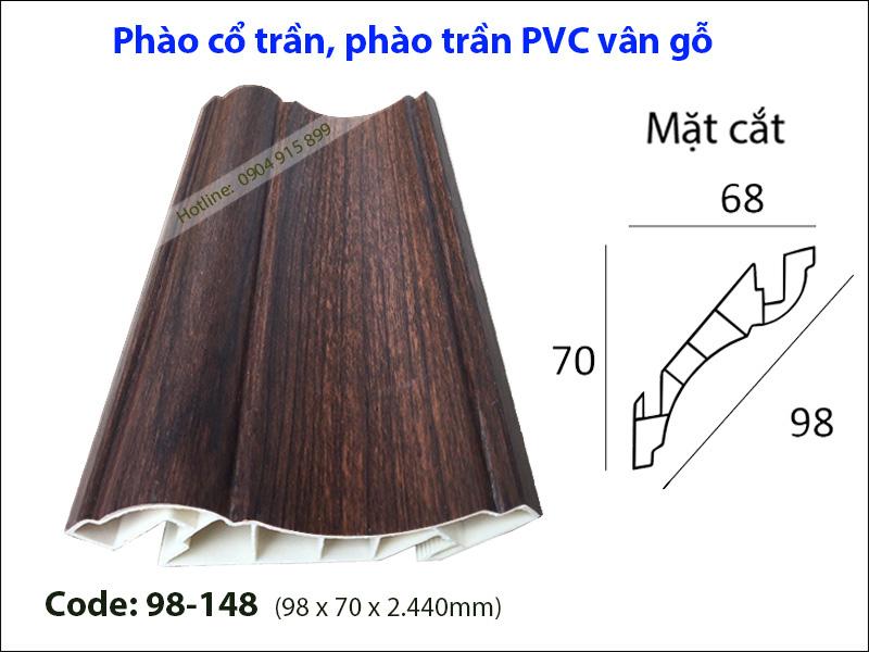 Phào cổ trần, phào trần PVC 98-148