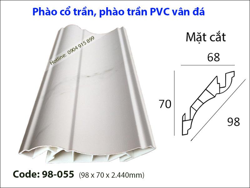 Phào cổ trần, phào trần PVC 98-055