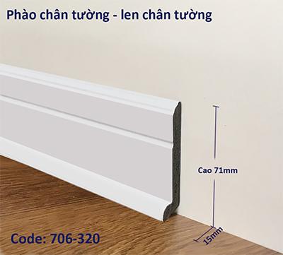 Phào chân tường, phào len chân tường mã 706-320