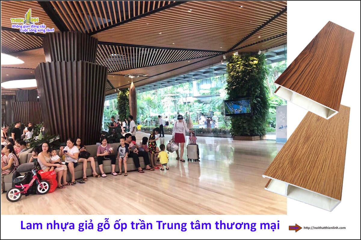Lam nhựa giả gỗ ốp trần Trung tâm thương mại (1)