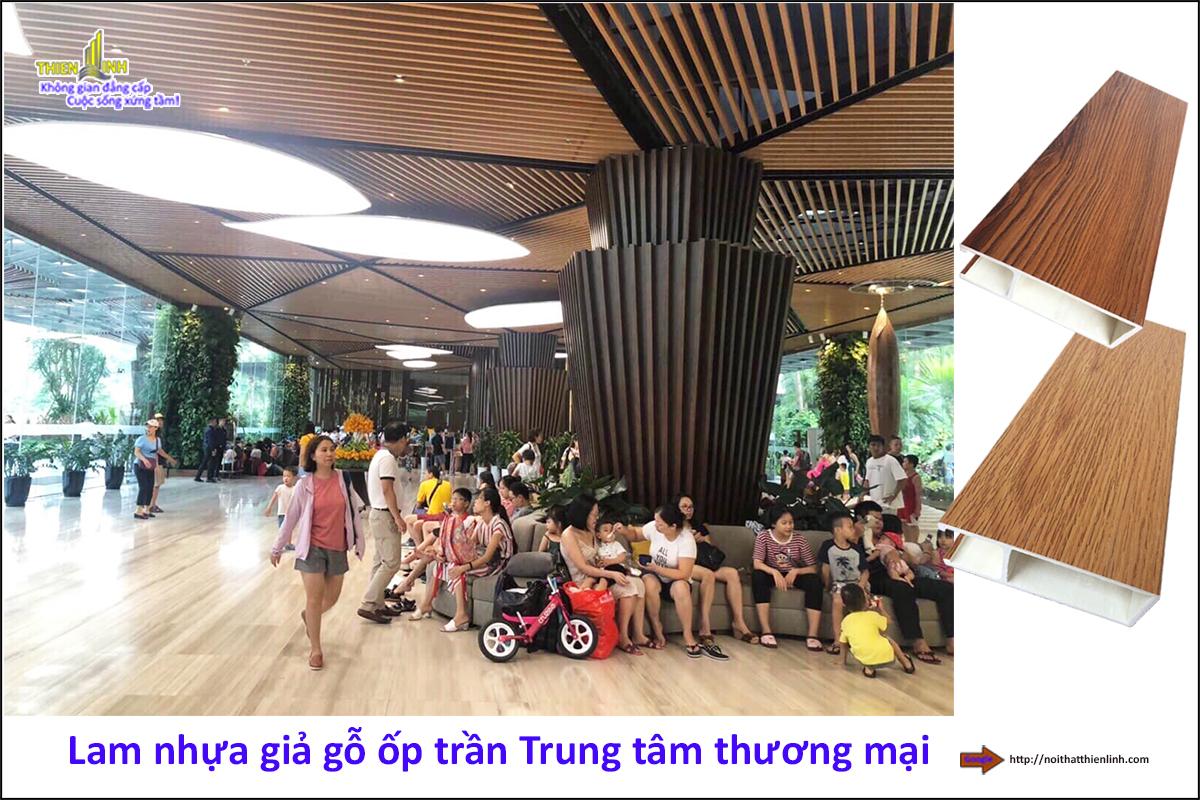 Lam nhựa giả gỗ ốp trần Trung tâm thương mại (2)