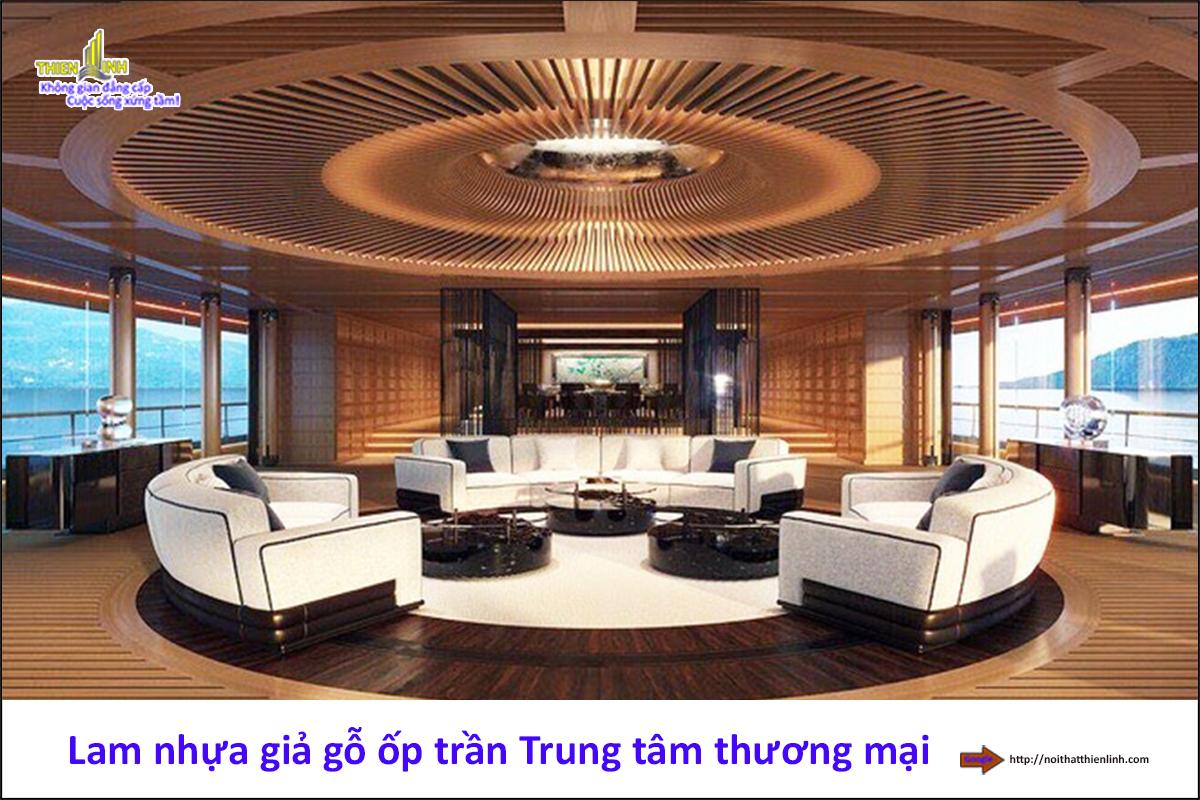 Lam nhựa giả gỗ ốp trần Trung tâm thương mại (3)