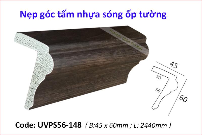 Nẹp góc tấm nhựa sóng ốp tường UVPS56-148
